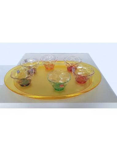 Set Vassoio Ovale Guzzini+coppette gelato RCR