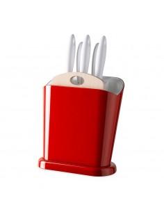 Ceppo multifunzione Trendy-Rosso