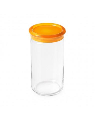 Barattolo vetro Trendy 1.5 LT  H 21cm -Tappo Giallo