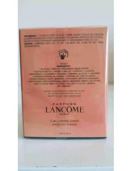 Tresor di Lancome Edp 50 ML-scatola parte posteriore