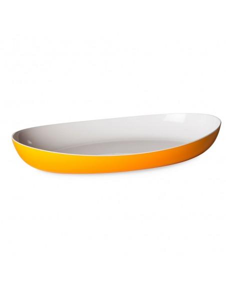 Piatto da portata colorato Giallo Trendy bicolore-1