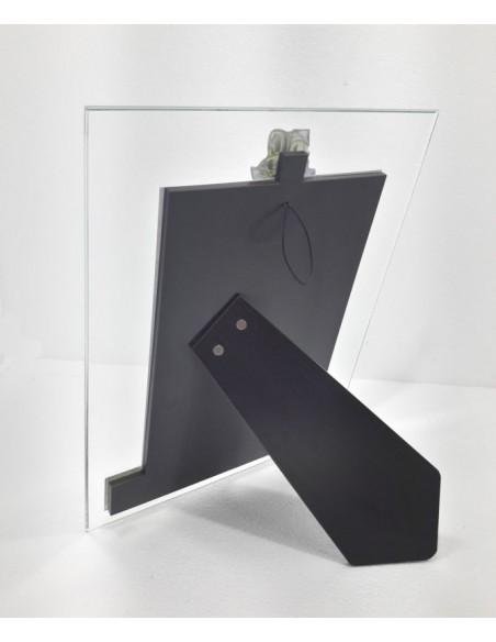 Portafoto cristallo 50° Anniversario parte anteriore-Vista posteriore-A