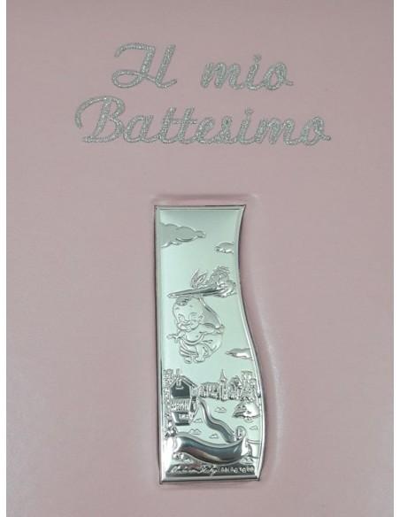 Album Battesimo Rosa-Particolare placca e scritta