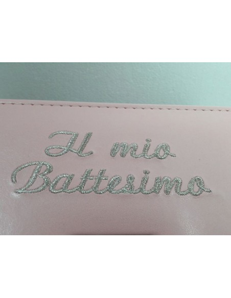 Album Battesimo Rosa-Particolare scritta