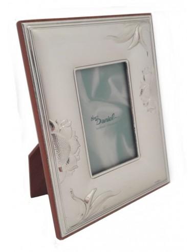 Cornice Portafoto in argento Girasoli 12x15
