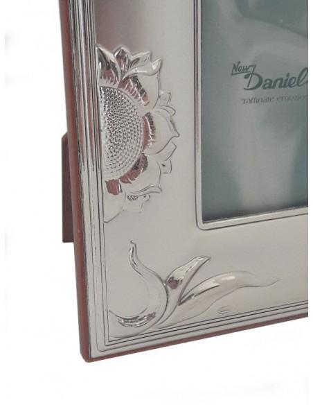 Cornice Portafoto in argento Girasoli 12x15-Partcolare cornice