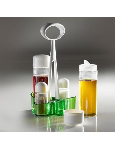 Uso del Menage Trendy in vetro-Verde