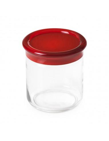 Barattolo vetro Trendy 75 cl -Tappo Rosso