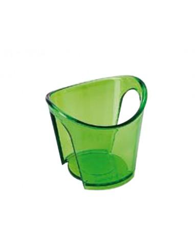 Reggibicchiere acqua colorato Verde Easy Set 4 pz