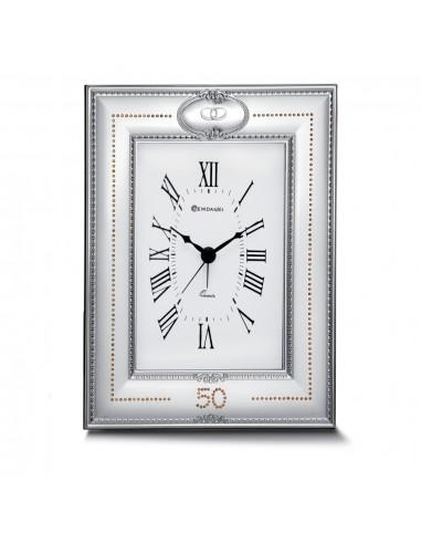 Sveglia 18424/2 in argento bilaminato e strass