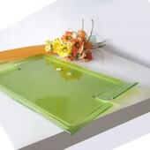 Vassoio Sinatra Grande 42X30 Cm IVAT,con colorazione Verde fusa nel vetro. Disponibile con SPEDIZIONE GRATUITA Su: www.caelilregalo.it
